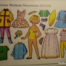 Coleccionismo Recortables: HOJA RECORTABLE MUÑECA -EDIVAS. Lote 148497726