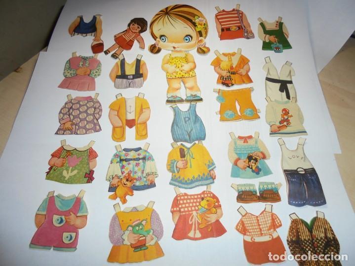 MAGNIFICA MUÑECA RECORTABLE EN TOTAL 25 PIEZAS (Coleccionismo - Recortables - Muñecas)