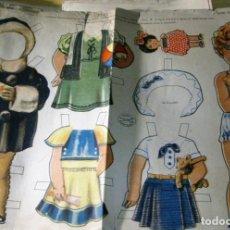 Coleccionismo Recortables: ANTIGUA LAMINA MUÑECA RECORTABLE CELIA SERIE 35 Nº 1 ED LA TIJERA 34/50 CM VESTIDOS . Lote 150240410