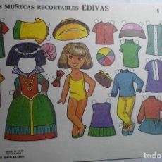 Coleccionismo Recortables: HOJA RECORTABLE MUÑECAS - EDIVAS. Lote 151158958