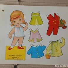 Coleccionismo Recortables: RECORTABLE * CHIQUI * DE MUÑECAS , Nº 9 - EDITORIAL ROMA . AÑO 1974 . LAMINA DE 23 X 18 CMS.. Lote 152359978