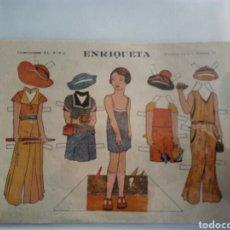Coleccionismo Recortables: RECORTABLE ENRIQUETA AÑOS 30.. Lote 153551877