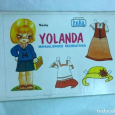 Coleccionismo Recortables: BLOCK DE 100 RECORTABLES YOLANDA MANUALIDADES RECREATIVAS, 10 MODELOS DIFERENTES -ED. ZULIA 1978. Lote 191583110