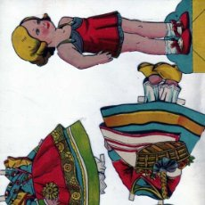 Coleccionismo Recortables: MARIQUITA RECORTABLE. MUÑECA + 4 VESTIDOS. 20 CM DE ALTO. NO FIGURA EDITOR.. Lote 154833250
