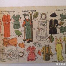 Coleccionismo Recortables: MUÑECAS RECORTABLES EDICIONES TBO SHIRLEY TEMPLE Nº 9 32X21 CM. Lote 155582146
