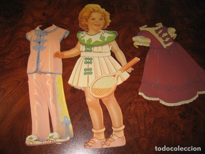 NUEVE RECORTABLES Y FIGURA DE LOS AÑOS 50 (Coleccionismo - Recortables - Muñecas)