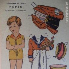 Coleccionismo Recortables: CONSTRUCCIONES EL NIÑO COLECCION Nº 5 PEPIN Nº 60 24X17,5 CM. Lote 159742470