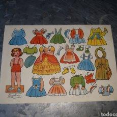 Coleccionismo Recortables: RECORTABLE ANGELINA. OBSEQUIO DE LA REVISTA FLORITA.. Lote 159852186