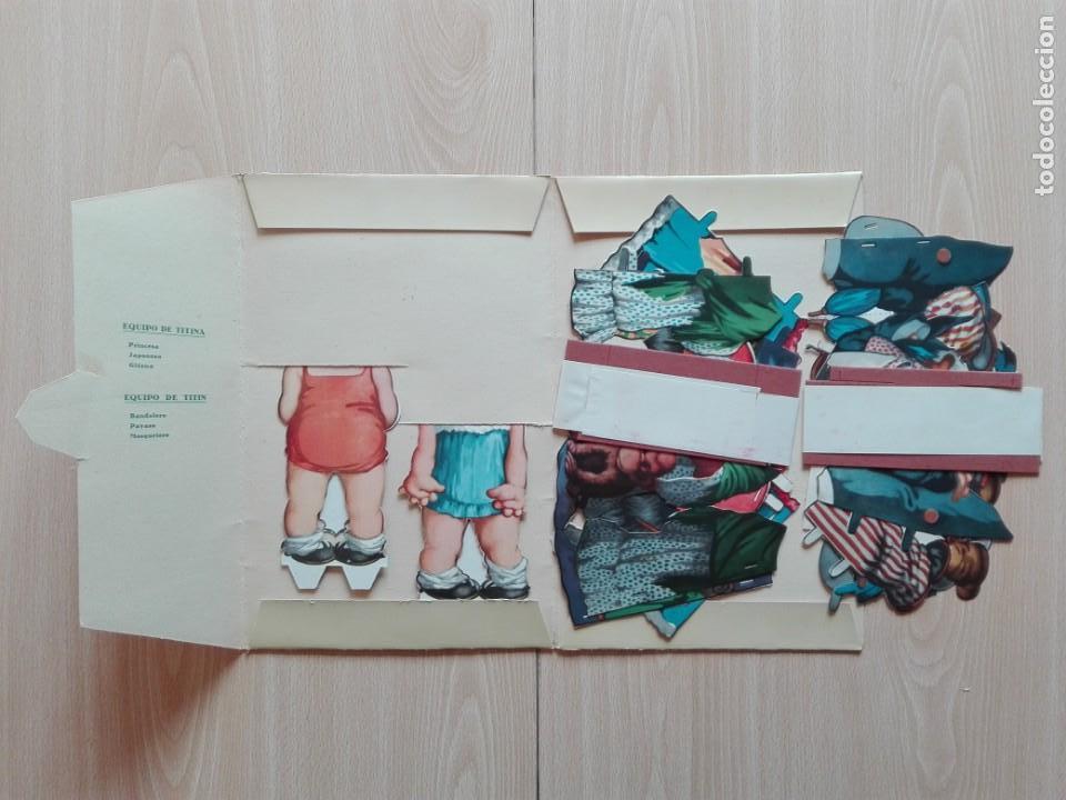 Coleccionismo Recortables: TITINA Y TITIN – ''LA PAREJA DE MODA'' CARPETA Nº 1. - Foto 3 - 161281770