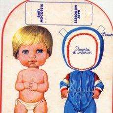 Coleccionismo Recortables: BABY MOCOSETE BUZO. Lote 162300714