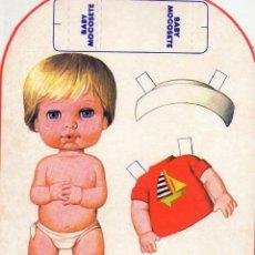 Coleccionismo Recortables: BABY MOCOSETE PLAYA. Lote 162300970