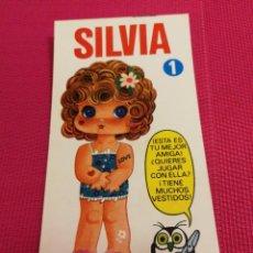 Coleccionismo Recortables: MUÑECA MINI-RECORTABLE DRUIDA AÑO 1982, SILVIA. Lote 162420582