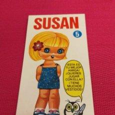 Coleccionismo Recortables: MUÑECA MINI-RECORTABLE DRUIDA AÑO 1982, SUSAN. Lote 162421510