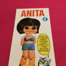 Coleccionismo Recortables: MUÑECA MINI-RECORTABLE DRUIDA AÑO 1982, ANITA. Lote 162421862