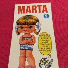 Coleccionismo Recortables: MUÑECA MINI-RECORTABLE DRUIDA AÑO 1982, MARTA. Lote 162421954