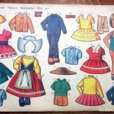 Coleccionismo Recortables: RECORTABLES EVA 907 SERIE MUÑECAS. EDITORIAL VASCO AMERICANA AÑO 1962. Lote 166839150