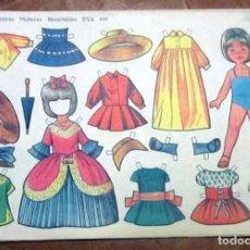 Coleccionismo Recortables: RECORTABLES EVA 909 SERIE MUÑECAS. EDITORIAL VASCO AMERICANA AÑO 1962. Lote 166839638