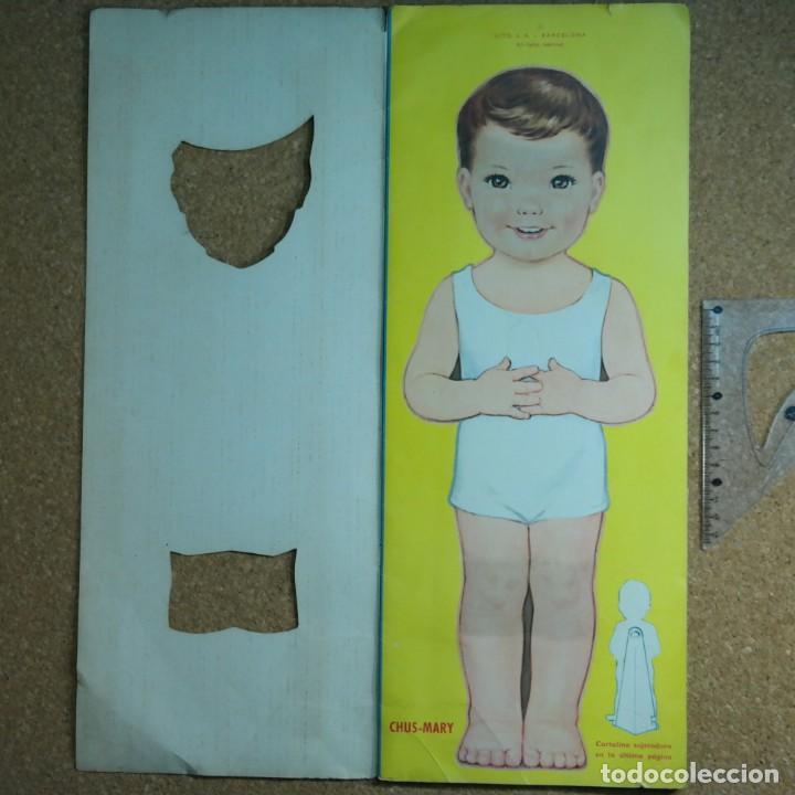 Coleccionismo Recortables: Gran muñeco colegial, Lito Barcelona, vestidos/trajes recortables troquelado - Foto 4 - 167490356