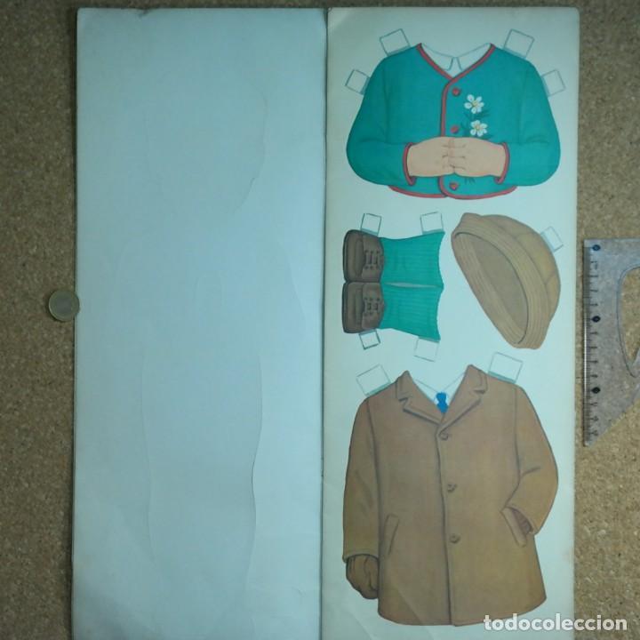 Coleccionismo Recortables: Gran muñeco colegial, Lito Barcelona, vestidos/trajes recortables troquelado - Foto 5 - 167490356