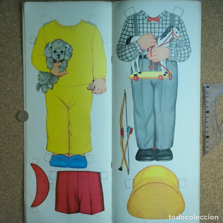 Coleccionismo Recortables: Gran muñeco colegial, Lito Barcelona, vestidos/trajes recortables troquelado - Foto 7 - 167490356