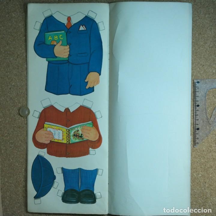 Coleccionismo Recortables: Gran muñeco colegial, Lito Barcelona, vestidos/trajes recortables troquelado - Foto 10 - 167490356