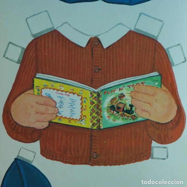 Coleccionismo Recortables: Gran muñeco colegial, Lito Barcelona, vestidos/trajes recortables troquelado - Foto 11 - 167490356