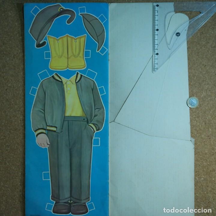 Coleccionismo Recortables: Gran muñeco colegial, Lito Barcelona, vestidos/trajes recortables troquelado - Foto 13 - 167490356