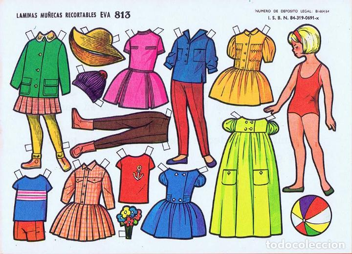Coleccionismo Recortables: RECORTABLES MUÑECAS EVA 802 A 820 (SALVO 817). LOTE DE 18 LÁMINAS (No Acreditado) 1962. OFRT - Foto 13 - 280672028