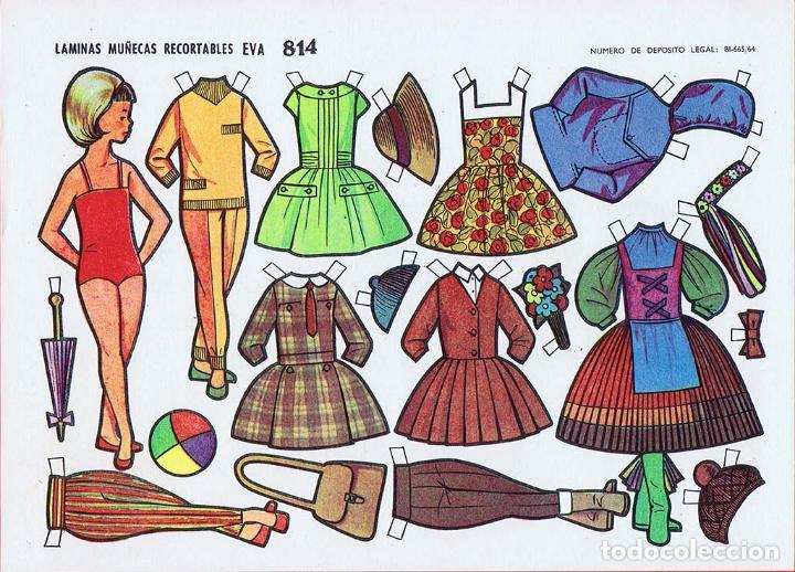 Coleccionismo Recortables: RECORTABLES MUÑECAS EVA 802 A 820 (SALVO 817). LOTE DE 18 LÁMINAS (No Acreditado) 1962. OFRT - Foto 14 - 280672028