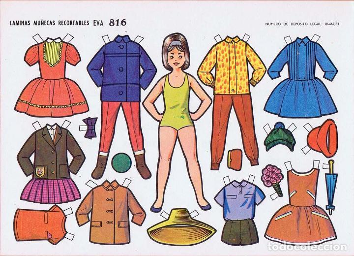 Coleccionismo Recortables: RECORTABLES MUÑECAS EVA 802 A 820 (SALVO 817). LOTE DE 18 LÁMINAS (No Acreditado) 1962. OFRT - Foto 16 - 280672028