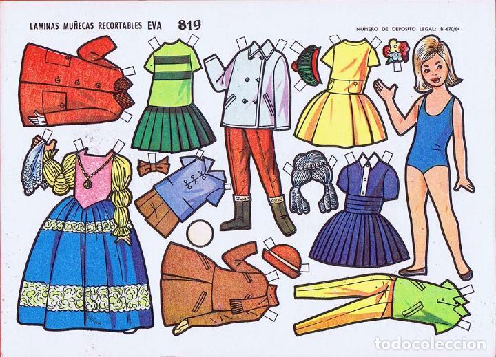 Coleccionismo Recortables: RECORTABLES MUÑECAS EVA 802 A 820 (SALVO 817). LOTE DE 18 LÁMINAS (No Acreditado) 1962. OFRT - Foto 18 - 280672028