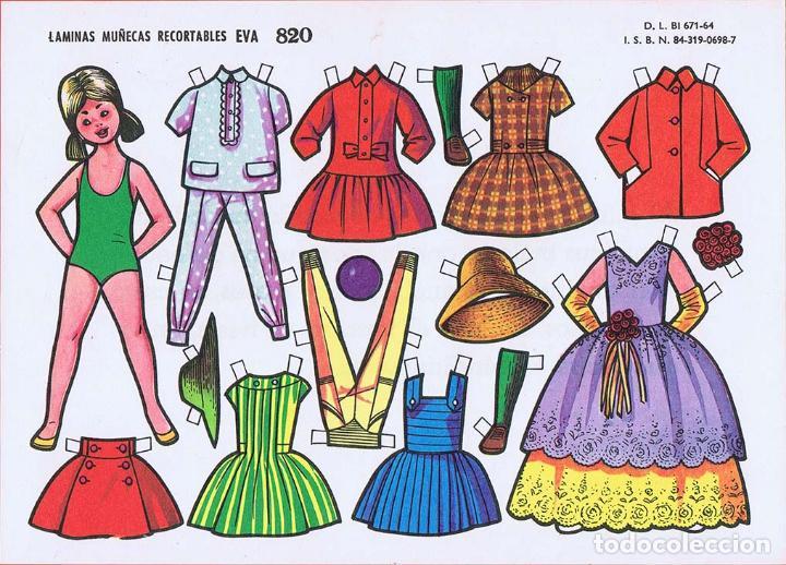Coleccionismo Recortables: RECORTABLES MUÑECAS EVA 802 A 820 (SALVO 817). LOTE DE 18 LÁMINAS (No Acreditado) 1962. OFRT - Foto 2 - 280672028