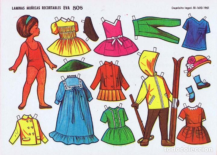 Coleccionismo Recortables: RECORTABLES MUÑECAS EVA 802 A 820 (SALVO 817). LOTE DE 18 LÁMINAS (No Acreditado) 1962. OFRT - Foto 8 - 280672028