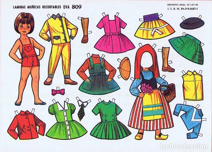 Coleccionismo Recortables: RECORTABLES MUÑECAS EVA 802 A 820 (SALVO 817). LOTE DE 18 LÁMINAS (No Acreditado) 1962. OFRT - Foto 9 - 280672028