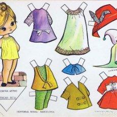 Collectionnisme Images à Découper: RECORTES ASTRO MUÑECAS RECORTABLES 31.. RECORTABLES ROMA, 1963. Lote 222099072
