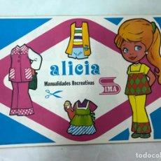 Coleccionismo Recortables: BLOCK DE RECORTABLES 50 PAGINAS ALICIA. 10 MODELOS DIFERENTES, SIMA 1975, VER FOTOS ADICIONALES. Lote 210639208