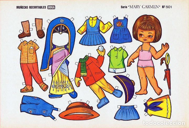 Coleccionismo Recortables: MUÑECAS RECORTABLES. SERIE MARY CARMEN 501 A 510. COMPLETA. (No Acreditado) Boga, 1976. OFRT - Foto 11 - 265830694
