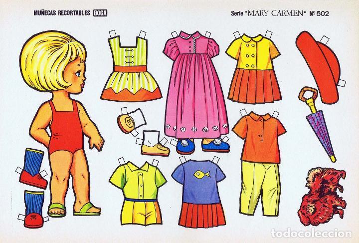 Coleccionismo Recortables: MUÑECAS RECORTABLES. SERIE MARY CARMEN 501 A 510. COMPLETA. (No Acreditado) Boga, 1976. OFRT - Foto 2 - 265830694