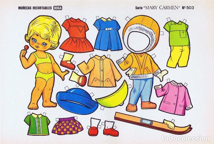 Coleccionismo Recortables: MUÑECAS RECORTABLES. SERIE MARY CARMEN 501 A 510. COMPLETA. (No Acreditado) Boga, 1976. OFRT - Foto 3 - 265830694