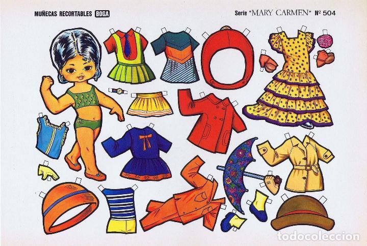 Coleccionismo Recortables: MUÑECAS RECORTABLES. SERIE MARY CARMEN 501 A 510. COMPLETA. (No Acreditado) Boga, 1976. OFRT - Foto 4 - 265830694