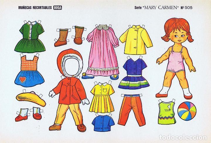 Coleccionismo Recortables: MUÑECAS RECORTABLES. SERIE MARY CARMEN 501 A 510. COMPLETA. (No Acreditado) Boga, 1976. OFRT - Foto 5 - 265830694