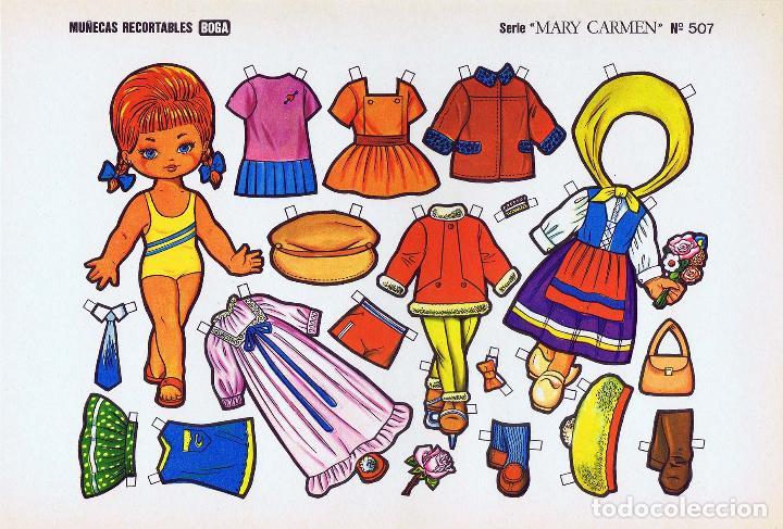 Coleccionismo Recortables: MUÑECAS RECORTABLES. SERIE MARY CARMEN 501 A 510. COMPLETA. (No Acreditado) Boga, 1976. OFRT - Foto 7 - 265830694