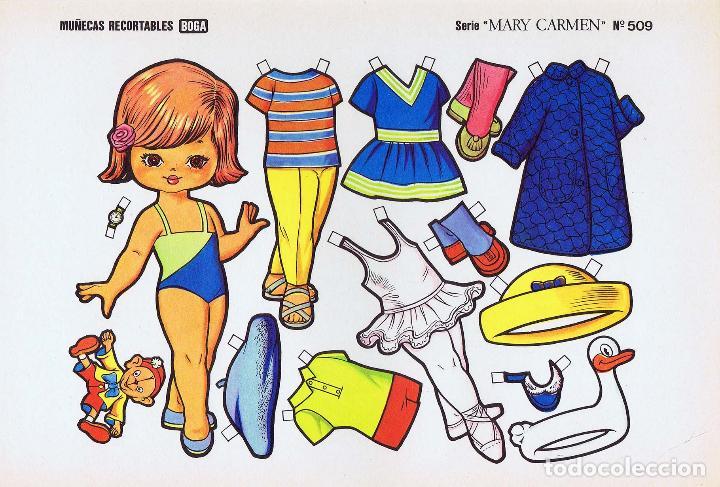 Coleccionismo Recortables: MUÑECAS RECORTABLES. SERIE MARY CARMEN 501 A 510. COMPLETA. (No Acreditado) Boga, 1976. OFRT - Foto 9 - 265830694