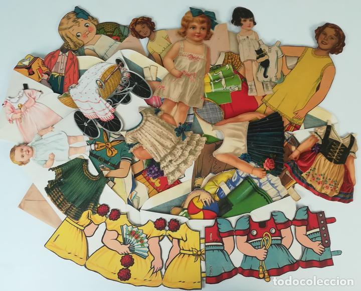 19 FIGURAS. COLECCIÓN DE RECORTABLES DE MUÑECAS. (CIRCA 1960) ESPAÑA (Coleccionismo - Recortables - Muñecas)