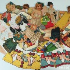 Coleccionismo Recortables: 19 FIGURAS. COLECCIÓN DE RECORTABLES DE MUÑECAS. (CIRCA 1960) ESPAÑA. Lote 170491664