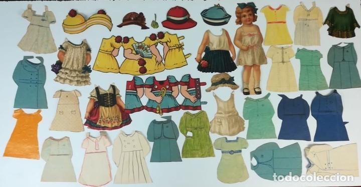 Coleccionismo Recortables: 19 FIGURAS. COLECCIÓN DE RECORTABLES DE MUÑECAS. (CIRCA 1960) ESPAÑA - Foto 2 - 170491664