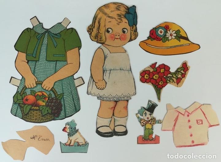 Coleccionismo Recortables: 19 FIGURAS. COLECCIÓN DE RECORTABLES DE MUÑECAS. (CIRCA 1960) ESPAÑA - Foto 6 - 170491664