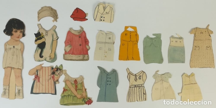 Coleccionismo Recortables: 19 FIGURAS. COLECCIÓN DE RECORTABLES DE MUÑECAS. (CIRCA 1960) ESPAÑA - Foto 8 - 170491664