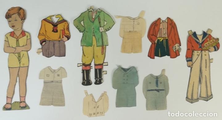 Coleccionismo Recortables: 19 FIGURAS. COLECCIÓN DE RECORTABLES DE MUÑECAS. (CIRCA 1960) ESPAÑA - Foto 10 - 170491664