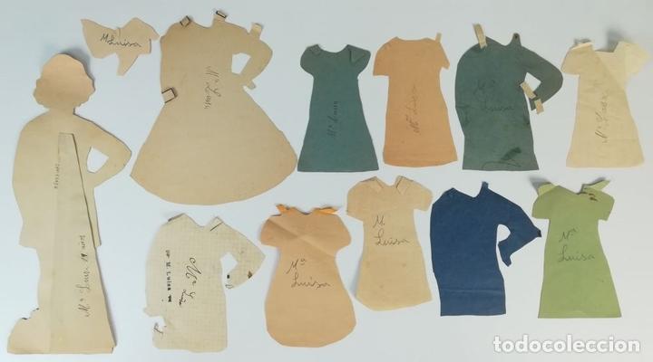 Coleccionismo Recortables: 19 FIGURAS. COLECCIÓN DE RECORTABLES DE MUÑECAS. (CIRCA 1960) ESPAÑA - Foto 13 - 170491664